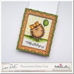 Early Hedgehog Balloon Pink Cards, Spectrum Noir, Alcohol Markers, Digital Stamps, It's Your Birthday, Happy Friday, I Card, Hedgehog, Embellishments