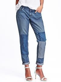 Just got these: Women's Boyfriend Skinny Ankle Patchwork Jeans. Love them for casual weekends outings.
