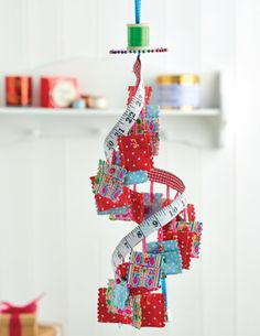 We adore this alternative Advent calendar, and we're sure a stitcher would too! Find the tutorial in the October 2014 issue of Crafts Beautiful. Advent Calendars For Kids, Diy Advent Calendar, Christmas Calendar, Christmas Sewing, Christmas Crafts, Christmas Ideas, Christmas Decorations, Christmas Ornaments, Alternative Advent Calendar