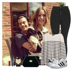 """""""Day crazy with Harry and Gemma"""" by hxrrybae ❤ liked on Polyvore featuring Topshop, H&M, adidas Originals, ASOS, J.Crew, Lancôme and MAC Cosmetics"""
