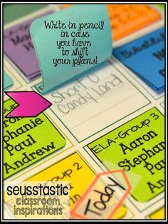 Daily 5 Post-It Lesson Plan-Bright Idea