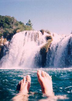 paradise, waterfall, nature