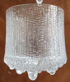 4 Vintage Iittala Crystal FInland Ultima Thule Double Old Fashioned Tumblers…