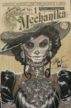 Lady Mechanika Comic Book Cover Art by Joe Benitez ☠️