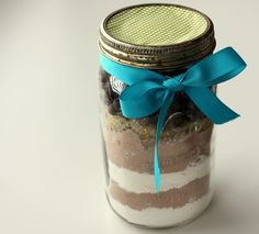 Homemade cookie mix in a jar. I did this a few years ago and was a big hit!