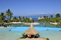 My hubby and I planned a dream honeymoon in Tahiti and chose this resort. WE ARE ELATED we did!!! I would stay here again in a heartbeat. via @tripadvisor tahiti.intercontinental.com  #ICTahiti #tahiti #frenchpolynesia #instamoment #instadaily #swimmingpool #pool  #view #landscape #blue #green #travel #travelgram #relaxing #luxe #voyage #sun #summer #sea #color #colors #dream #paradise