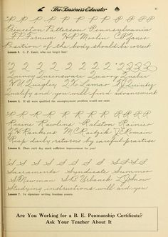 Calligraphy Handwriting, Calligraphy Alphabet, Penmanship, Caligraphy, Palmer Method, Calligraphy Tutorial, Improve Your Handwriting, Calligraphy Practice, Business Writing