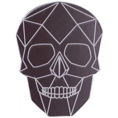 Make sure your hair & makeup are always in line with a handy pocket mirror! This geometric skull mirror can easily fit in a purse or just have it sitting on your vanity.