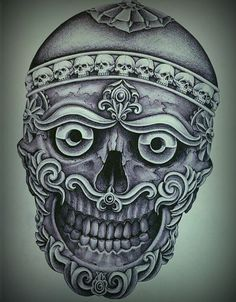 WUDEY213 Geometric Mandala Tattoo, Mandala Tattoo Design, Skull Tattoo Design, Tattoo Designs, Asian Tattoos, Hot Tattoos, Body Art Tattoos, Tattoos For Guys, Skull Rose Tattoos