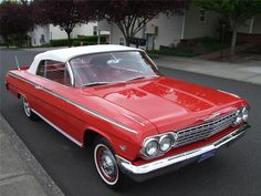 1962 Chevrolet Impala SS convertible, red exterior