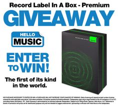 Hello Music is giving away This Record Label In A Box - Premium package from Ditto Music!! Enter to win here: http://www.hellomusic.com/giveaways/