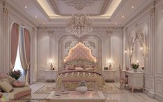 101 Pink Bedrooms With Images, Tips And Accessories To Help You Decorate Yours Rich Girl Bedroom, Royal Bedroom, Blush Bedroom, Fancy Bedroom, Pink Headboard, Pink Bedding, Luxury Bedroom Design, Girl Bedroom Designs, Pink Accent Walls