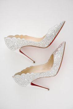 elegant wedding shoes; photo: Brian Hatton