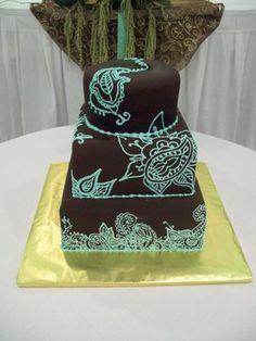 Mehndi design cake!!