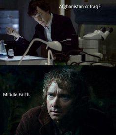 Sherlock and Bilbo  :D