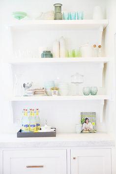 Kitchen Open Shelves Decor. Kitchen Open Shelves Decor Ideas. How to decorate kitchen open shelves like a designer. #KitchenOpenShelvesDecor Millhaven Homes.