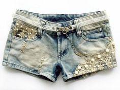 Shorts Destroyed e Renda