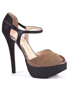 Black Cut Out Platform Sandals