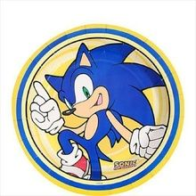Purchase Sonic The Hedgehog 7 Inch Party Cake Plates Party Birthday Dessert from Partytoyz Inc. Sonic Birthday Parties, Sonic Party, Boss Birthday, Birthday Party Desserts, Birthday Plate, 4th Birthday, Birthday Ideas, Baby Food Jar Crafts, Baby Food Jars