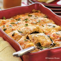 Gooseberry Patch Recipes: Spinach-Ravioli Lasagna from Our Best Comfort Food Cookbook
