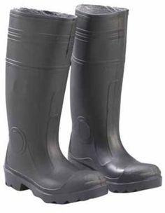 7de5e581c38d Enguard Men's Size 12 Black PVC Steel Toe Waterproof Work Boots ...