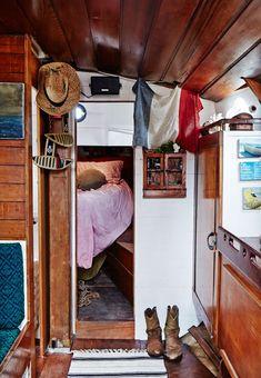 The sailboat Gwenn A. Du, Sydney, AU. The Design Files.