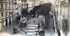 La Rambla cuando aún no se llamaba así hacia 1850