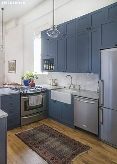 Reasons To Paint Your Walls Blue Kitchens With Style - Best blue for kitchen cabinets