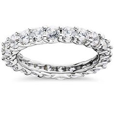 233 3ct Trellis Diamond Eternity Ring 14K White Gold