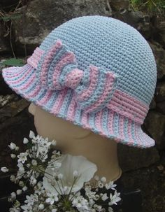 not in English Crochet Hat Sizing, Crochet Bows, Crochet Kids Hats, Crochet Cap, Crochet Beanie, Knitted Hats, Crochet Patterns, Hat Patterns, Sombrero A Crochet