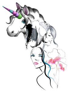 """Milles et un visages"" by jaja8x8 ❤ liked on Polyvore featuring art"