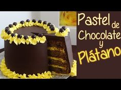 Pastel de chocolate y plátano - Suave bizcocho de chocolate - YouTube