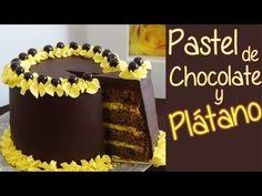 Pastel de chocolate y plátano - Suave bizcocho de chocolate - YouTube