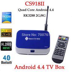 CS918II RK3288 Quad Core Android 4.4 Smart TV Box 2 ГБ/8 ГБ Wi-Fi 1080 P Mini PC 4 К * 2 К Bluetooth4.0 WiFi RJ45 OTG SPDIF TV Box