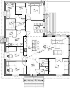 En hel del har frågat efter vår planlösning, here it is ✌ My House, House Plans, Highlights, Floor Plans, Cottage, Houses, Flooring, Dreams, How To Plan