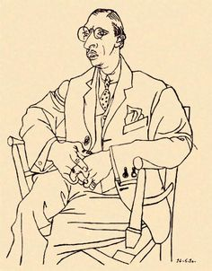 Picasso's portrait of his friend, composer Igor Stravinsky, 1920.