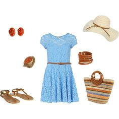 So cute but I had to laugh at the original comment for this picture - 'A perfect dress to wear on a picnic or to the beach.' Ummmm who would wear this to the beach or a picnic...obviously not a mom. Lol