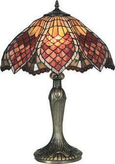 tiffany lamps   Orsino Tiffany lighting collection