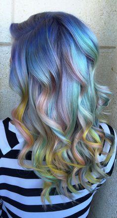 dark opal hair