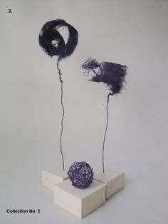 Kristina Neral, BIRD ON A WIRE: a series of blue flowers - Flower is made of wire and hair. Inspiration was my homework 073 and Why hair? It was a challenge for me. Blue Flowers, Homework, Hair Inspiration, Challenge, Wire, Design, House, Home Decor, Collection