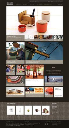 Heath Ceramics Web Site  Site designed by Method.