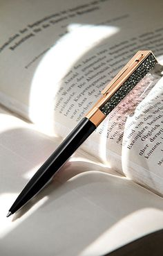 Swarovski Stellar Pen, Black and Rose Gold