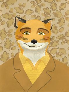 Fantastic Mr Fox Portrait Print by AhJennyShop on Etsy #wesanderson #fantasticmrfox