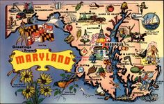 Greetings from Maryland Maps ~ my adopted state home [bmf]