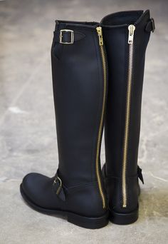 Primeboots, Engineer High-14, MUSTA - Kengät - By Pia's Design