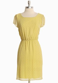 """Bloomfield Beauty Butterfly Print Dress 36.99 at shopruche.com. Inspired by sunny fields aflutter with butterflies, this cheerful yellow dress is crafted in delicate chiffon with a charming ivory butterfly print. An elasticized waist, sheer cap sleeves, and a flattering scoop neck complete the style. Fully lined.100% Polyester, Made in USA, 34.5"""" length from top of shoulders, 33"""" bust, All measurem..."""