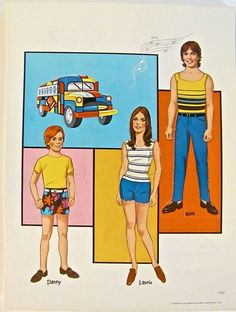 The Partridge Family paper dolls