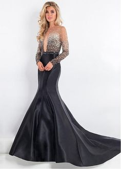 Lace Wedding Dresses, Sophisticated Satin Jewel Neckline Long Sleeves Cut-out Mermaid Evening Dress With Beadings, Find your personal style and the perfect wedding dress for your special wedding day Red Carpet Dresses, Ball Dresses, Ball Gowns, Unconventional Wedding Dress, Affordable Wedding Dresses, Princess Prom Dresses, Homecoming Dresses, Beautiful Evening Gowns, Beautiful Dresses