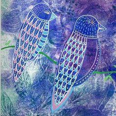 Gelli prints with paint pens