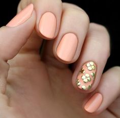 This lovely look by LuLu's can be recreated in three steps. #NailArt #PromNails